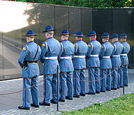 Honor Guard at DC Memorial - Click to view larger image